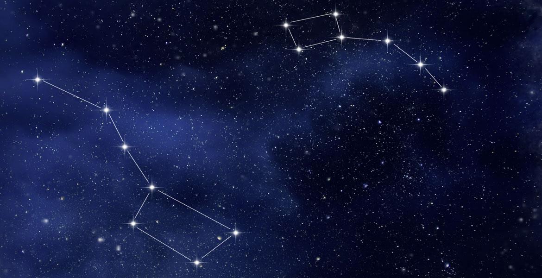 Ursa Minor and Ursa Major Constellations