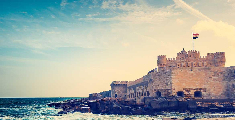 castle on a seaside