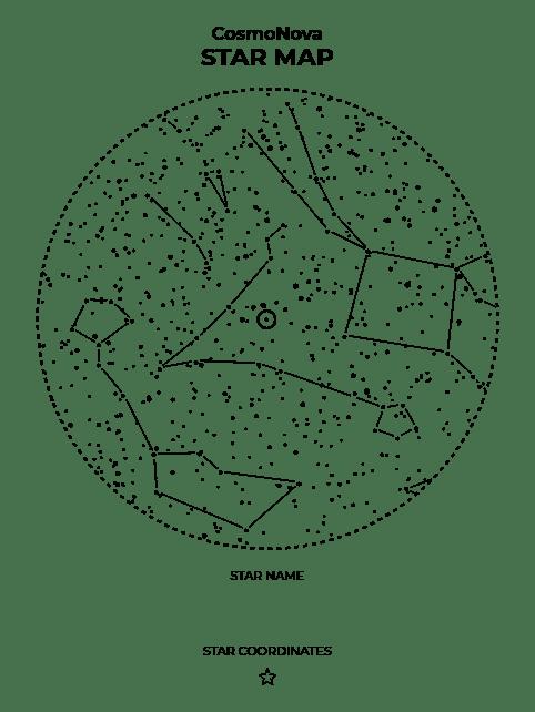Premium Wooden Star Map