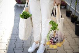 how to organize reusable bags